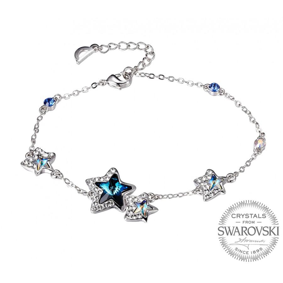 Monemel Mavi Swarovski® Taşlı Yıldız Bileklik - Tüm Ürünler - Monemel
