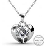 Monemel Swarovski Kalp Kolye (Altın Kaplama) - Anneler Günü - Monemel