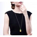 Monemel Swarovski Taşlı Ananas Kolye - Uzun Zincirli (Altın Kaplama) - Anneler Günü - Monemel