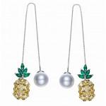 Monemel Swarovski Taşlı Ananas Küpe (Gümüş) - Anneler Günü - Monemel
