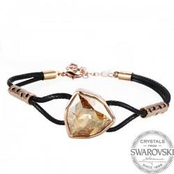 Monemel Swarovski® Taşlı Bileklik (Altın Kaplama)