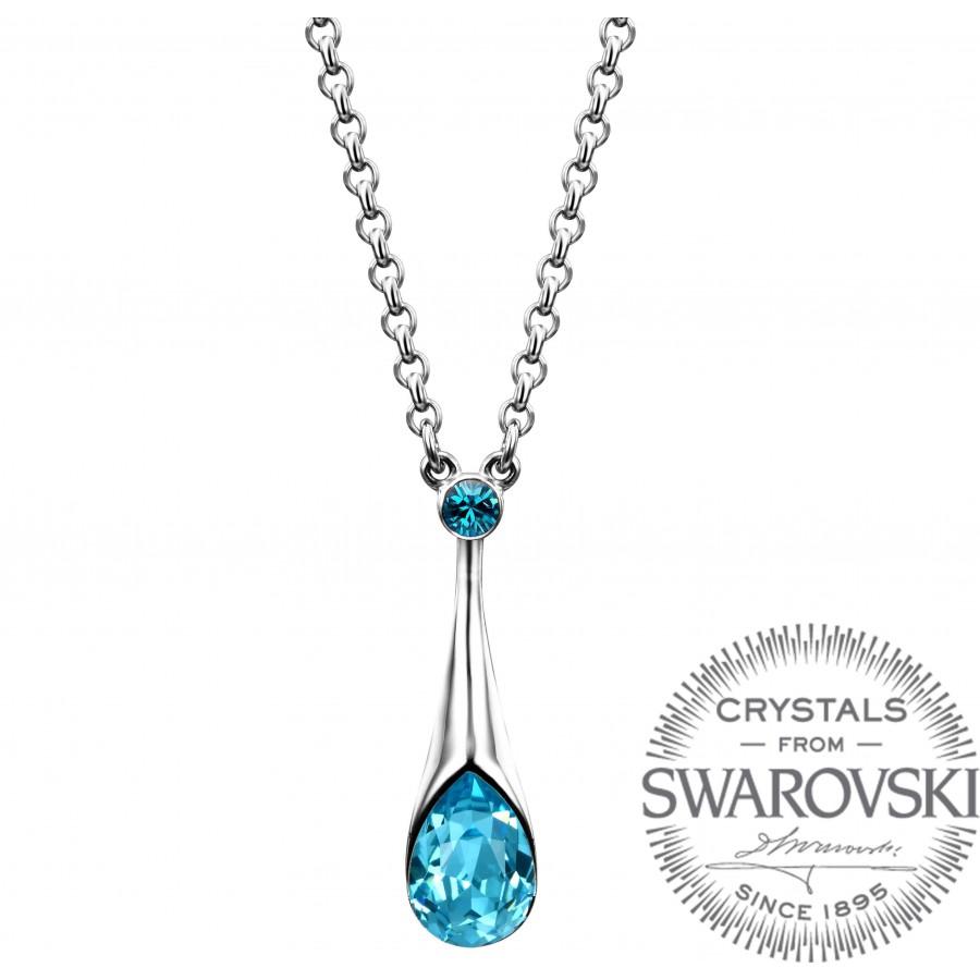 Monemel  Blue Swarovski   Necklace - Mother s Day - Monemel