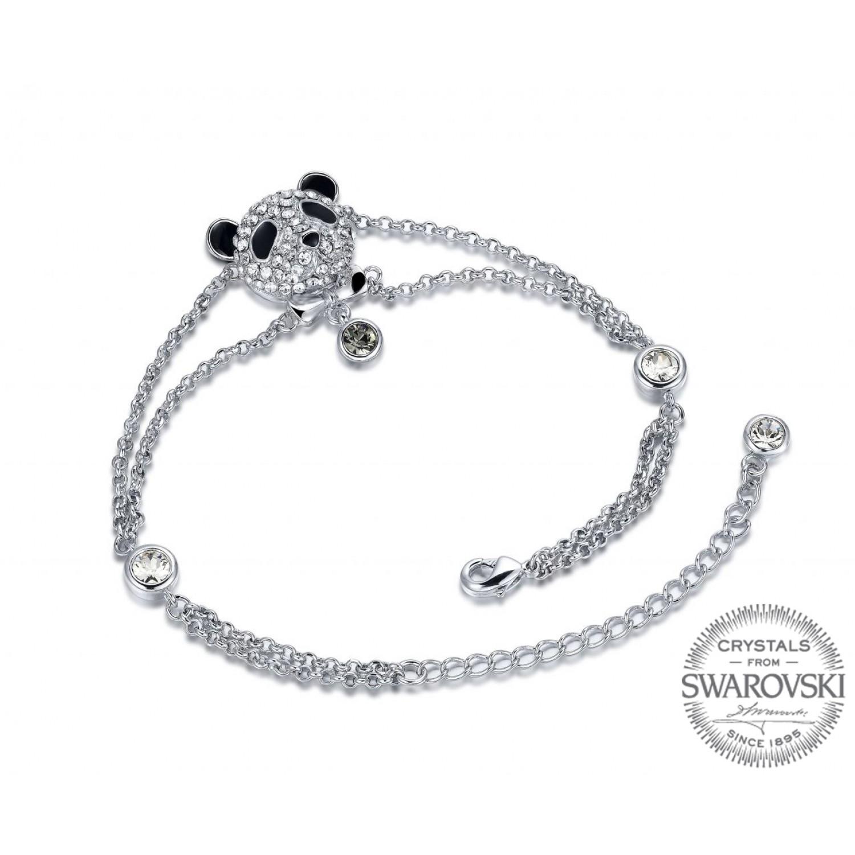 Monemel Swarovski Crystals Panda Bracelet
