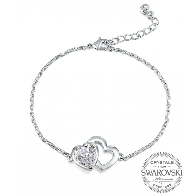 Monemel Swarovski Heart Shape Bracelet